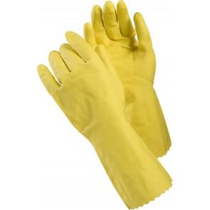 Yellow Flock Gloves